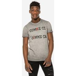 Υφασμάτινα Άνδρας T-shirt με κοντά μανίκια Brokers ΑΝΔΡΙΚΟ T-SHIRT  COMME CI COMME CA Μαύρο