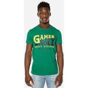 Υφασμάτινα Άνδρας T-shirt με κοντά μανίκια Brokers ΑΝΔΡΙΚΟ T-SHIRT  GAMER PAY AUTHORITY Πράσινο