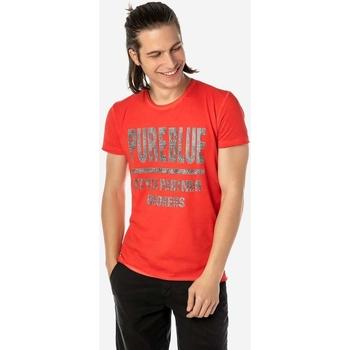 Υφασμάτινα Άνδρας T-shirt με κοντά μανίκια Brokers ΑΝΔΡΙΚΟ T-SHIRT  ΚΟΚΚΙΝΟ PURE BLUE Κόκκινο
