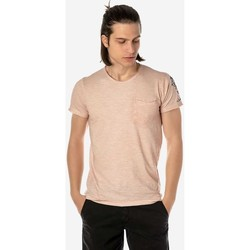 Υφασμάτινα Άνδρας T-shirt με κοντά μανίκια Brokers ΑΝΔΡΙΚΟ T-SHIRT  ΡΟΖ ΜΕ ΣΧΕΔΙΟ ΣΤΟΝ ΩΜΟ Ροζ