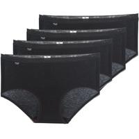 Εσώρουχα Γυναίκα Culottes Sloggi BASIC+ X 4 Black