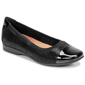 Παπούτσια Γυναίκα Μπαλαρίνες Clarks UN DARCEY CAP Black