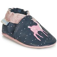 Παπούτσια Κορίτσι Σοσονάκια μωρού Robeez LITTLE FAWN Marine / Ροζ