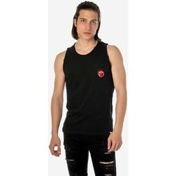 Υφασμάτινα Άνδρας Αμάνικα / T-shirts χωρίς μανίκια Brokers ΑΝΔΡΙΚΟ ΑΜΑΝΙΚΟ T-SHIRT  ΜΑΥΡΟ Μαύρο