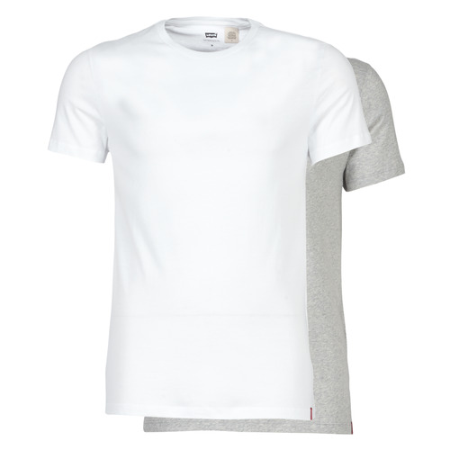 Υφασμάτινα Άνδρας T-shirt με κοντά μανίκια Levi's SLIM 2PK CREWNECK 1 Άσπρο / Grey