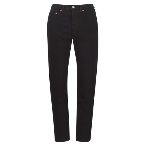 Υφασμάτινα Γυναίκα Boyfriend jeans Levi's 501 CROP Μαυρο / Heart