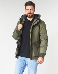 Υφασμάτινα Άνδρας Μπουφάν Scotch & Soda SHORT HOODED JACKET WITH INSIDE QUILTING Kaki