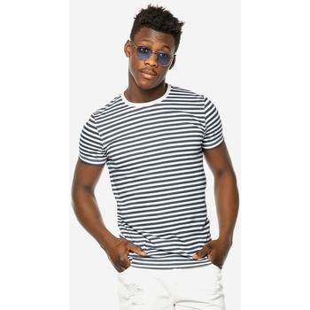 Υφασμάτινα Άνδρας T-shirt με κοντά μανίκια Brokers ΑΝΔΡΙΚΟ T-SHIRT  MARINE ΜΕ ΡΙΓΕΣ MARINE