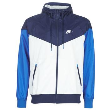 Υφασμάτινα Άνδρας Αντιανεμικά Nike M NSW HE WR JKT HD Μπλέ / Άσπρο