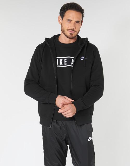Υφασμάτινα Άνδρας Φούτερ Nike M NSW CLUB HOODIE FZ BB Black