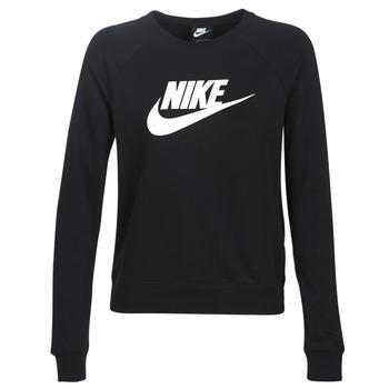 Υφασμάτινα Γυναίκα Φούτερ Nike W NSW ESSNTL CREW FLC HBR Black