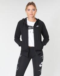 Υφασμάτινα Γυναίκα Φούτερ Nike W NSW ESSNTL HOODIE FZ FLC Black