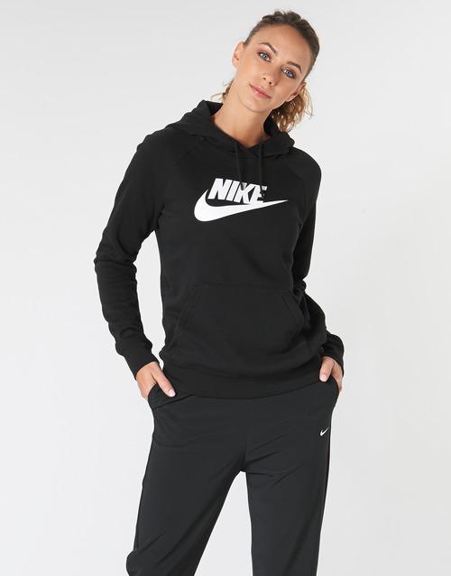 Υφασμάτινα Γυναίκα Φούτερ Nike W NSW ESSNTL HOODIE PO  HBR Black
