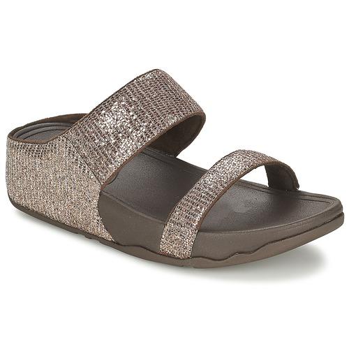 Παπούτσια Γυναίκα Τσόκαρα FitFlop LULU™ SUPERGLITZ SLIDE Brown