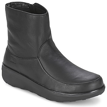 Παπούτσια Γυναίκα Μποτίνια FitFlop LOAFF SHORTY ZIP BOOT Black