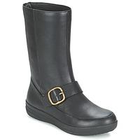 Παπούτσια Γυναίκα Μπότες FitFlop FF-LUX BIKER Black