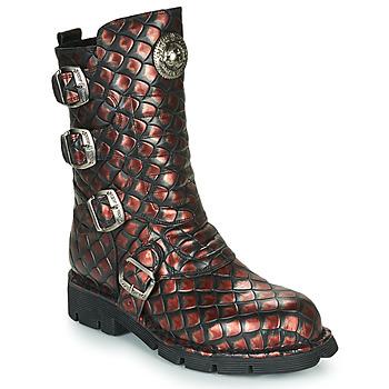 Παπούτσια Γυναίκα Μπότες New Rock  Black / Red