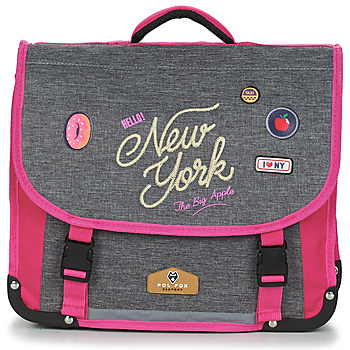 Τσάντες Κορίτσι Σάκα Rentrée des classes POL FOX NEW YORK CARTABLE 38 CM Grey / Ροζ