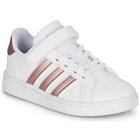 Παπούτσια Κορίτσι Χαμηλά Sneakers adidas Originals GRAND COURT C Άσπρο