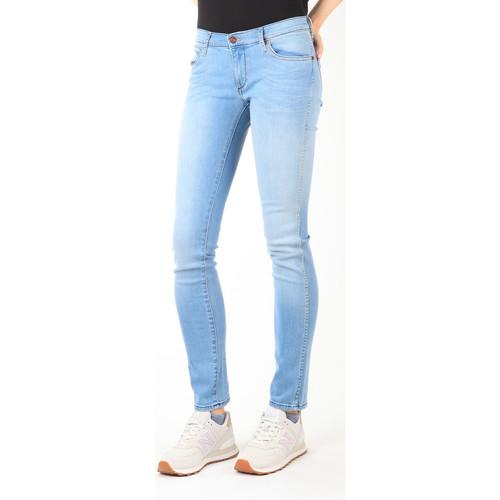 Υφασμάτινα Γυναίκα Skinny Τζιν  Wrangler Jeans  Blue Trace W22TF729D