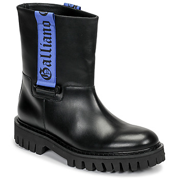Παπούτσια Άνδρας Μπότες John Galliano 8560 Black / Μπλέ