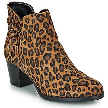 Παπούτσια Γυναίκα Μποτίνια André MARYLOU Leopard