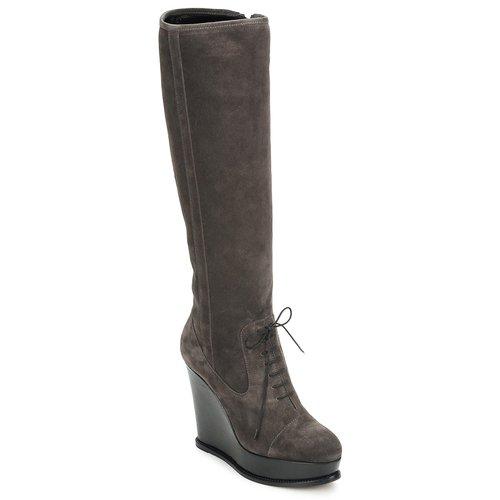 Παπούτσια Γυναίκα Μπότες για την πόλη Moschino Cheap & CHIC CA2603 Taupe
