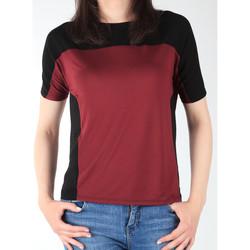 Υφασμάτινα Γυναίκα T-shirt με κοντά μανίκια Lee Color Block T L40XJMLL black, burgundy