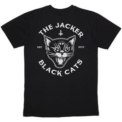 Υφασμάτινα Άνδρας T-shirt με κοντά μανίκια Jacker Black cats Μαύρο