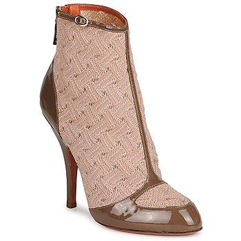 Παπούτσια Γυναίκα Μποτίνια Missoni LISCIA Beige / Brown