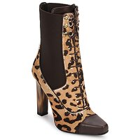 Παπούτσια Γυναίκα Μποτίνια Roberto Cavalli SPS769 Brown