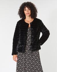 Υφασμάτινα Γυναίκα Παλτό Lauren Ralph Lauren FAUX CHUBBY Black