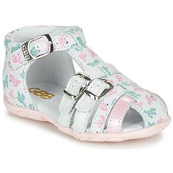 Παπούτσια Κορίτσι Σανδάλια / Πέδιλα GBB RIVIERA Άσπρο / Ροζ