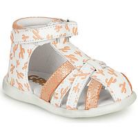 Παπούτσια Κορίτσι Σανδάλια / Πέδιλα GBB AGRIPINE Άσπρο / Orange