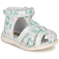 Παπούτσια Κορίτσι Σανδάλια / Πέδιλα GBB AGRIPINE Άσπρο / Green / Ροζ