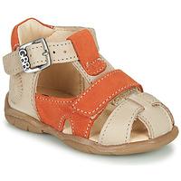 Παπούτσια Αγόρι Σανδάλια / Πέδιλα GBB SEROLO Beige / Orange