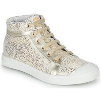 Παπούτσια Κορίτσι Ψηλά Sneakers GBB NAVETTE Άσπρο / Gold