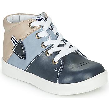 Παπούτσια Αγόρι Ψηλά Sneakers GBB AMOS Μπλέ / Grey