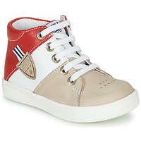 Παπούτσια Αγόρι Ψηλά Sneakers GBB AMOS Beige / Άσπρο / Red