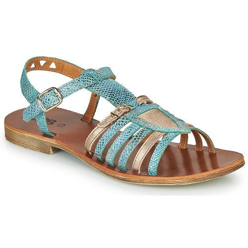 Παπούτσια Κορίτσι Σανδάλια / Πέδιλα GBB FANNI Μπλέ / Gold