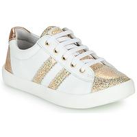 Παπούτσια Κορίτσι Χαμηλά Sneakers GBB MAPLUE Άσπρο / Gold