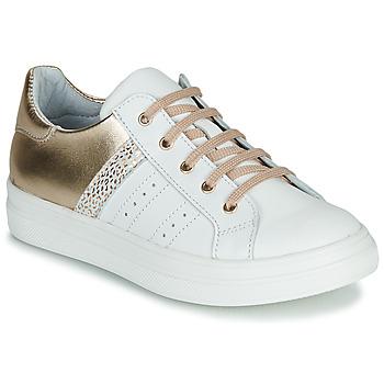 Παπούτσια Κορίτσι Χαμηλά Sneakers GBB DANINA Άσπρο / Gold