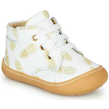 Παπούτσια Κορίτσι Ψηλά Sneakers GBB ATARINA Άσπρο / Gold