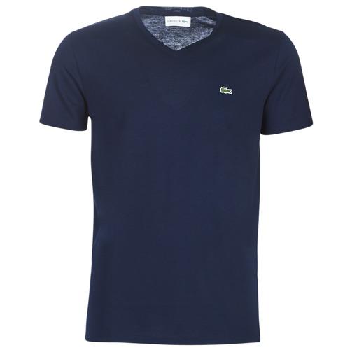 Υφασμάτινα Άνδρας T-shirt με κοντά μανίκια Lacoste TH6710 Marine