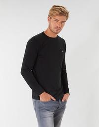 Υφασμάτινα Άνδρας Μπλουζάκια με μακριά μανίκια Lacoste TH6712 Black