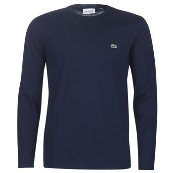 Υφασμάτινα Άνδρας Μπλουζάκια με μακριά μανίκια Lacoste TH6712 Marine