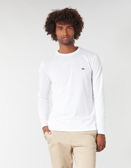 Υφασμάτινα Άνδρας Μπλουζάκια με μακριά μανίκια Lacoste TH6712 Άσπρο