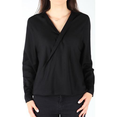 Υφασμάτινα Γυναίκα Πουκάμισα Wrangler L/S Wrap Shirt Black W5180BD01 black