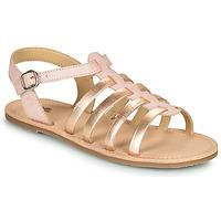 Παπούτσια Κορίτσι Σανδάλια / Πέδιλα Citrouille et Compagnie MAYANA Ροζ / Dore