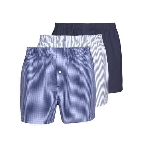Εσώρουχα Άνδρας Boxer-Καλσόν Lacoste 7H3394-8X0 Άσπρο / Μπλέ